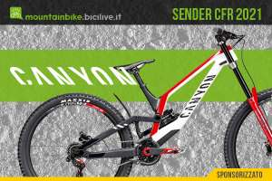 Nuovo modello 2021 di Mountain Bike per Downhill Canyon Sender CFR