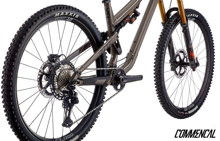 Il carro posteriore della mountain bike biammortizzata Commencal Meta TR 29 2021