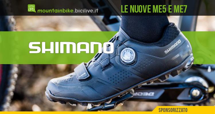 I nuovi modelli 2021 di scarpe per mtb Shimano ME5 e Shimano ME7
