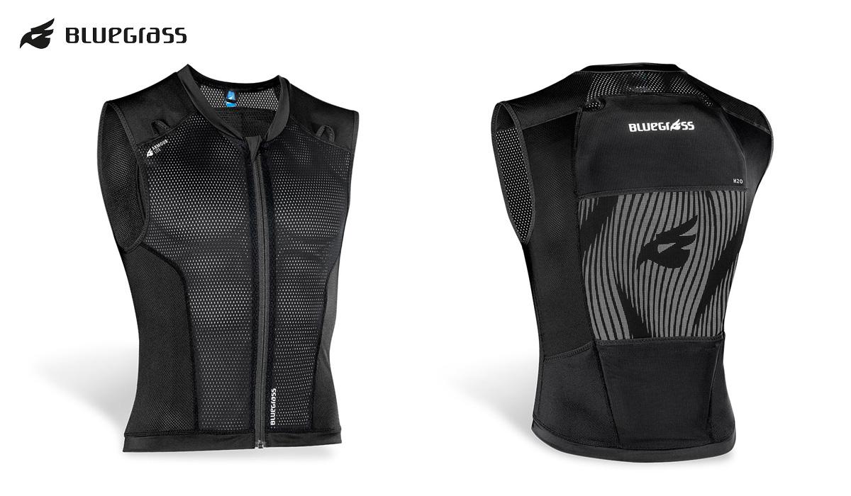 Vista frontale e posteriore della nuova maglia traspirante per ciclismo e mountainbike Bluegrass Armour Lite
