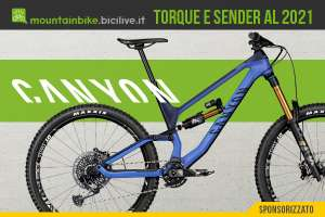 Le nuove mountain bike Canyon Sender AL e Torque 2021