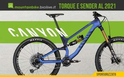 Le nuove mountain bike Canyon Sender AL e Torque 2021
