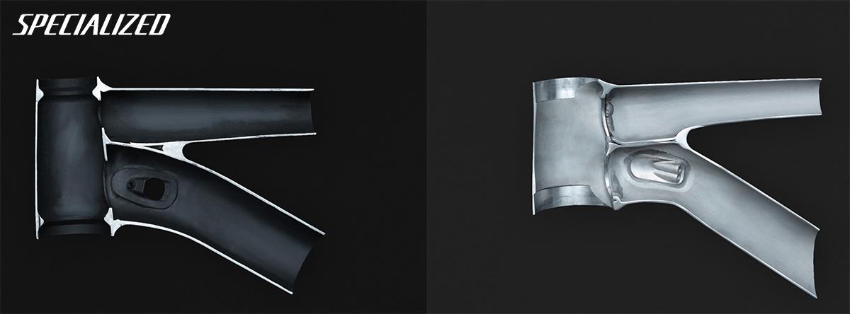 La tecnologia Smartweld permette di saldare i telai in alluminio con estrema precisione e utilizzando meno materiale