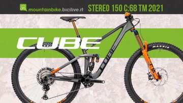 Una mtb enduro full suspended carbon Cube Stereo 150 C:68 TM 2021