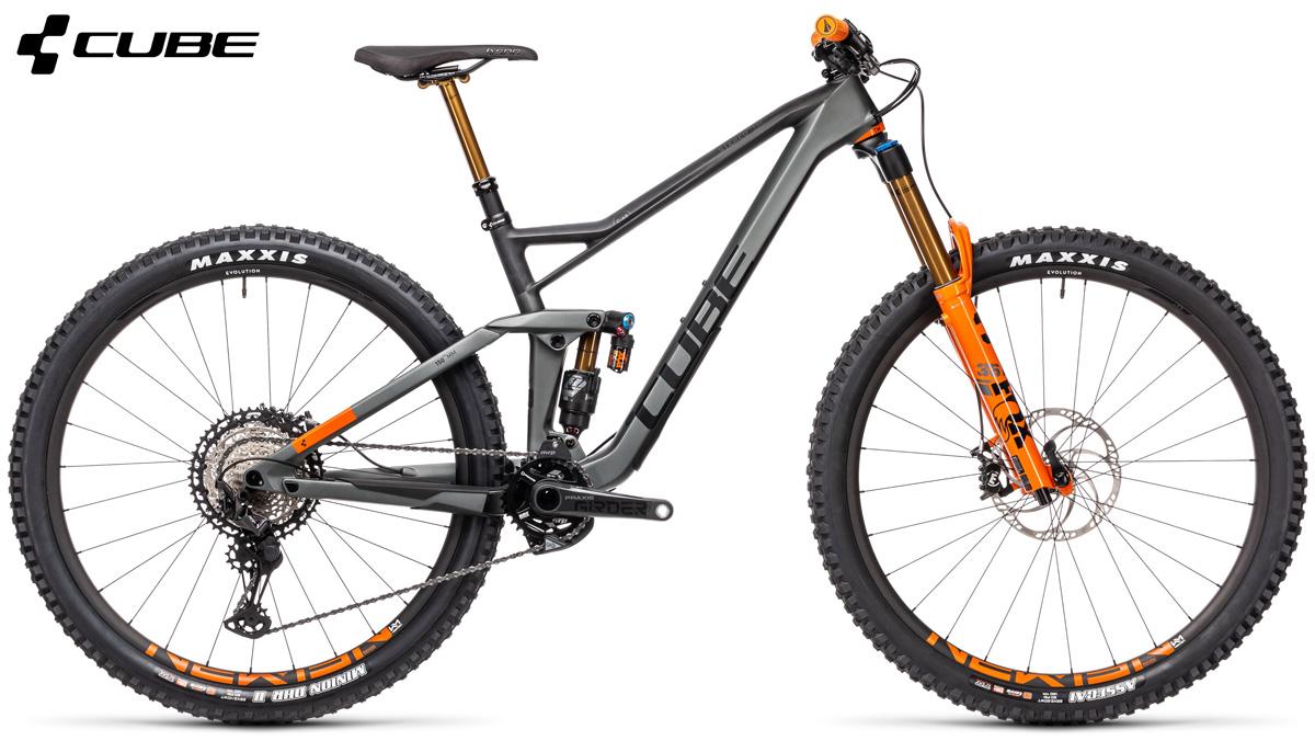 Una mountain bike biammortizzata Cube Stereo 150 C:68 TM 2021