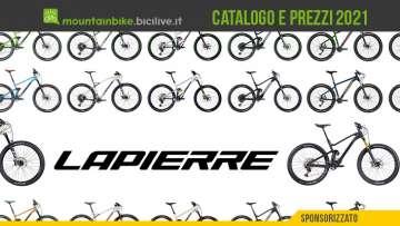 Il catalogo MTB Lapierre 2021: modelli, prezzi e dettagli