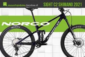 Norco Sight C2 Shimano 2021 MTB all mountain aggressiva