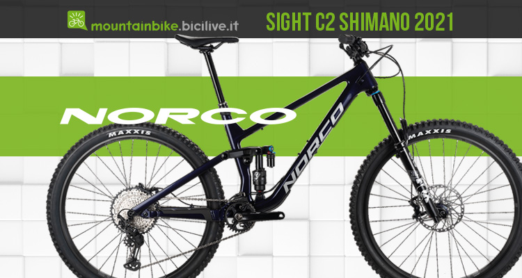 Norco Sight C2 Shimano 2021 MTB all mountain aggressiva