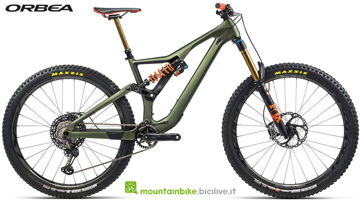 La nuova mountain bike biammortizzata Orbea Rallon M LTD 2021