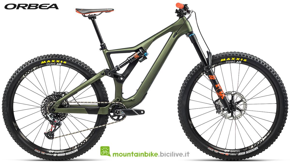 La nuova mountain bike biammortizzata Orbea Rallon M10 2021