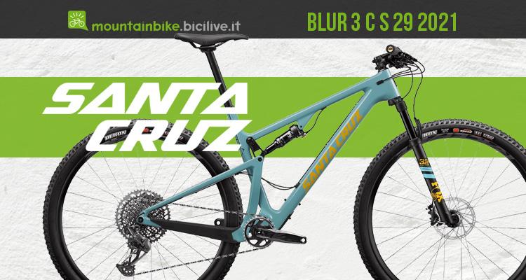 "Mountain bike XC marathon con carro VPP Santa Cruz Blur 3 C 29"" S 2021"