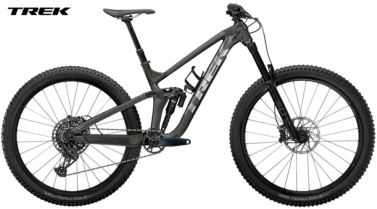 La nuova mountain bike Trek Slash 8 2021 vista lateralmente