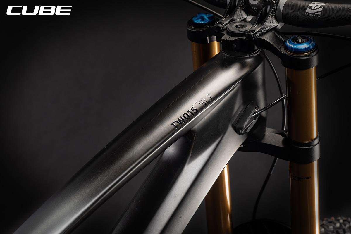 Dettaglio del telaio della bici Cube TWO15 HPC SLT 2021