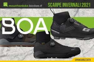 Sistema di chiusura BOA su scarpe invernali MTB 2021