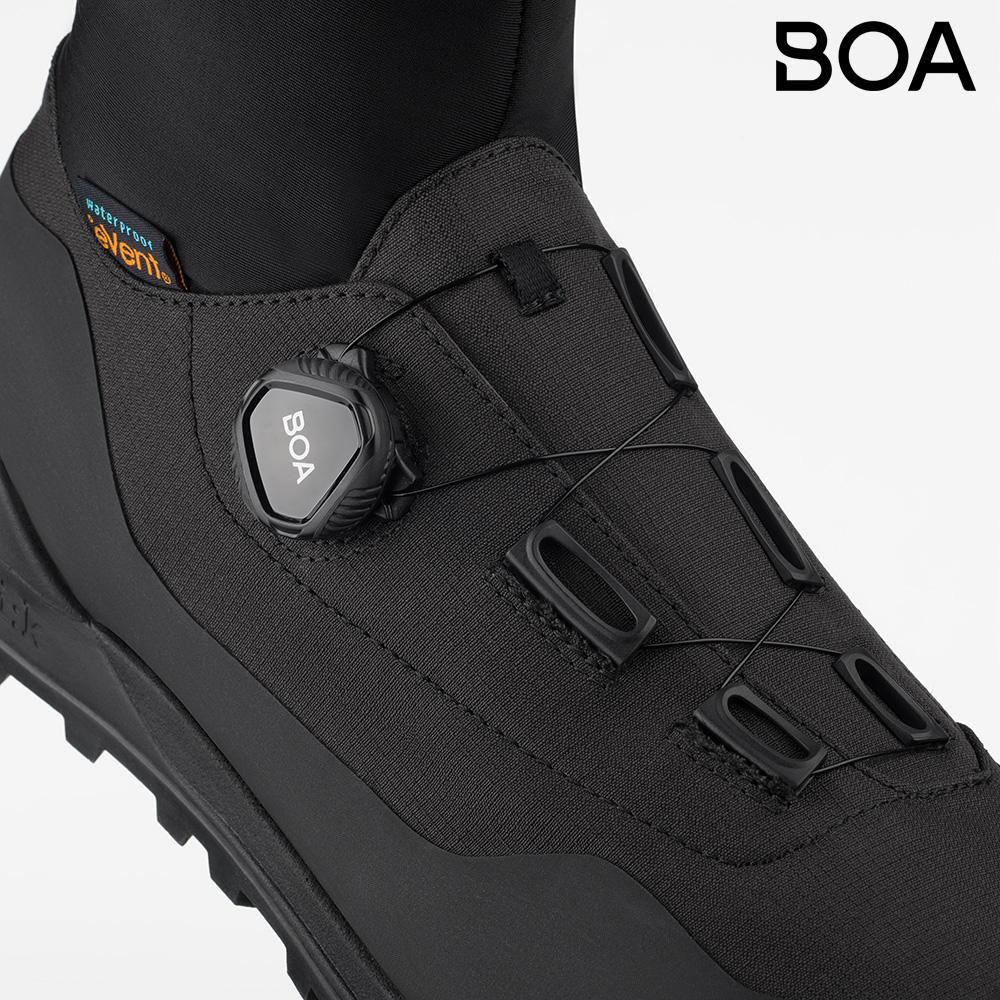 Dettaglio del sistema di chiusura BOA Fit System sulla scarpa Fi'zi:k Terra Artica X2 2021
