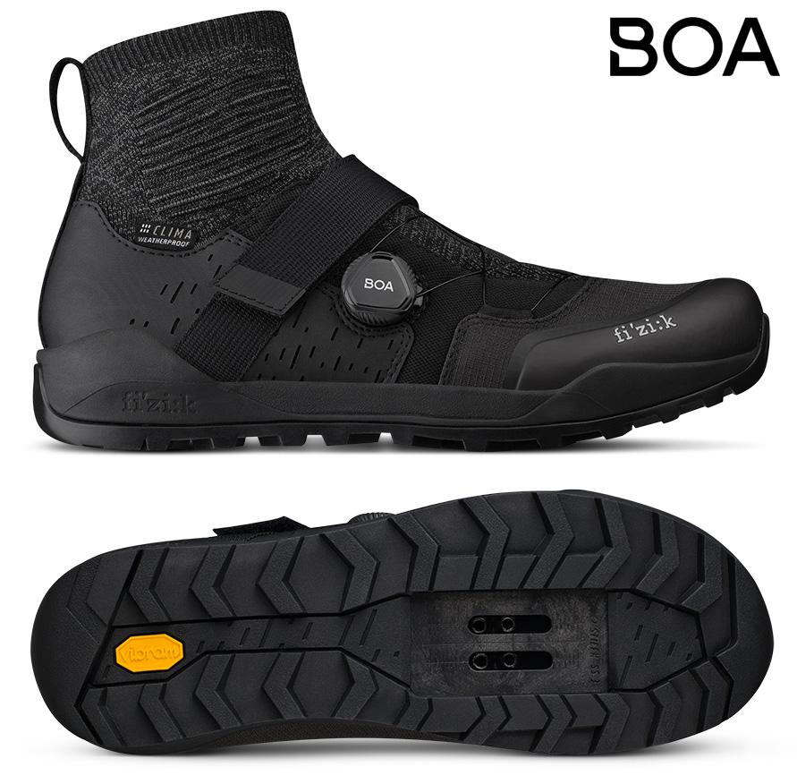 Le scarpe MTB invernali Fi'zi:k Terra Clima X2 2021 con sistema di chiusura BOA Fit System