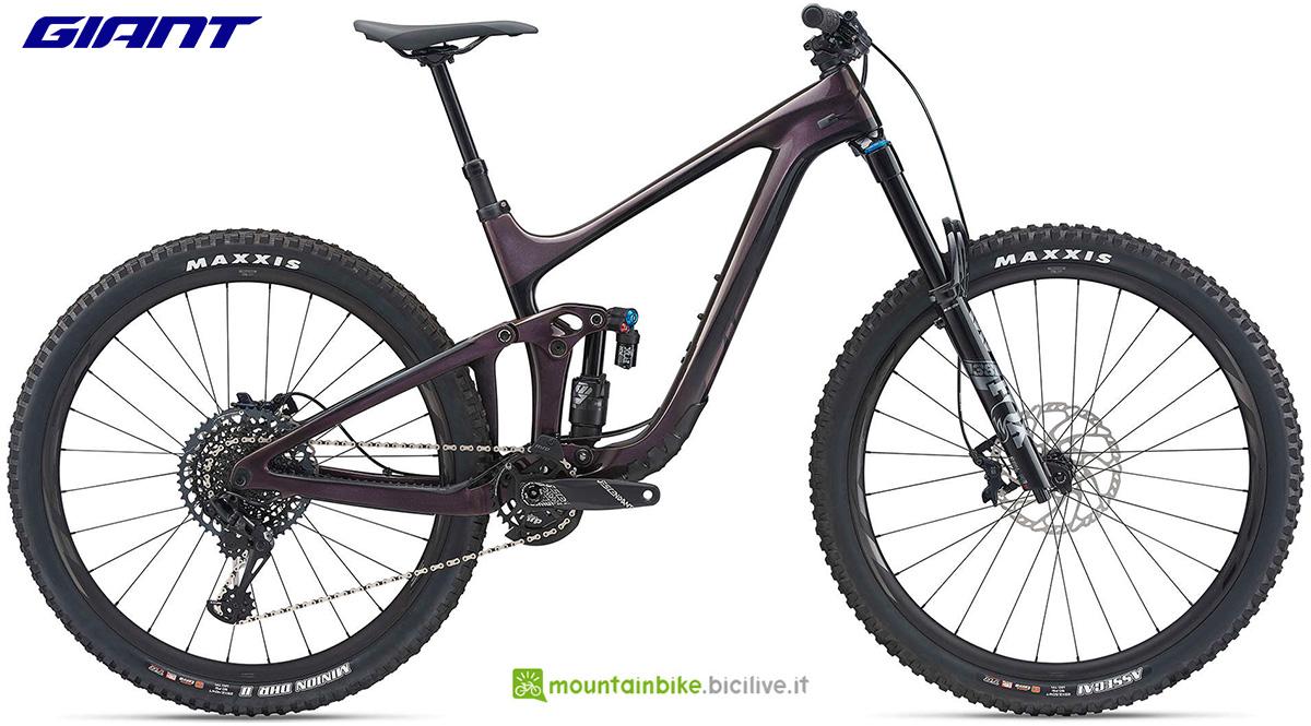 La nuova mountainbike biammortizzata Giant Reign Advanced Pro 29 1 2021