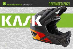 Kask Defender 2021: casco MTB full face in carbonio per il gravity