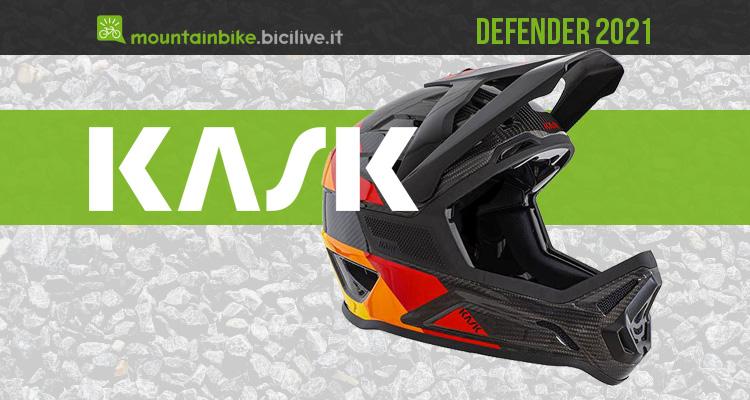 Kask Defender 2021: casco MTB full face in carbonio per il gravity
