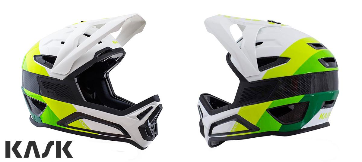 Un casco MTB gravity full face in carbonio Kask Defender 2021