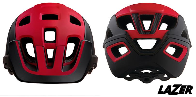 Il casco MTB Lazer Jackal visto di fronte e sul retro