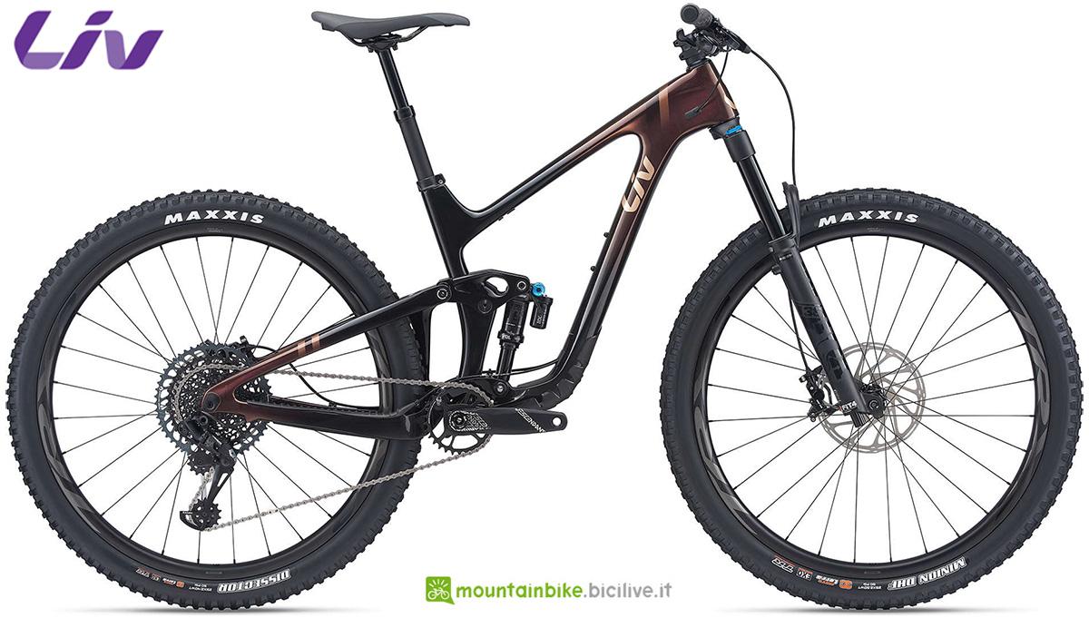 La nuova mountainbike biammortizzata da donna Liv Intrigue Advanced Pro 29 1 2021