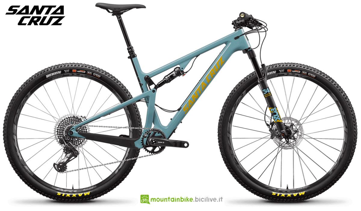 """La nuova mountainbike full Santa Cruz Blur CC X01 TR 29"""" 2021"""