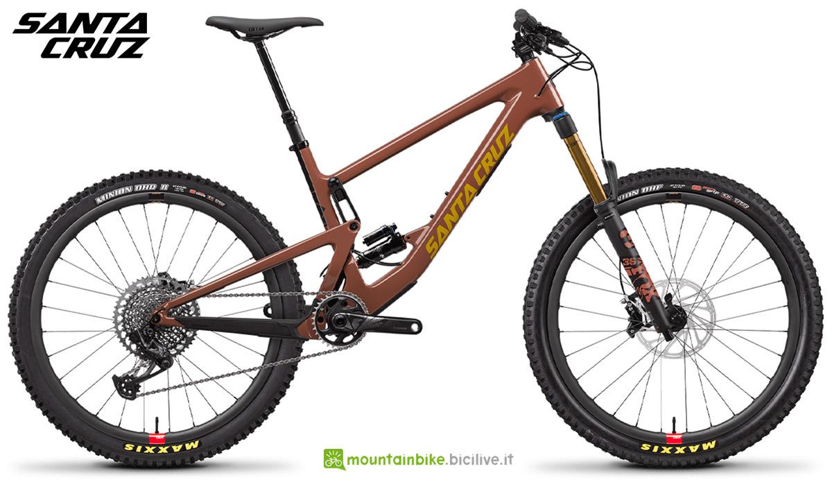"""La nuova mtb full Santa Cruz Bronson CC X01 RSV 27"""" 2021"""