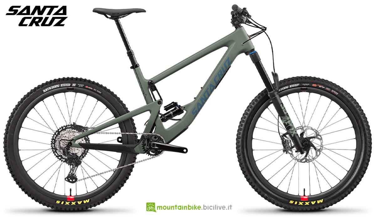 "La nuova mountainbike biammortizzata Santa Cruz Bronson CXT RSV 27"" 2021"