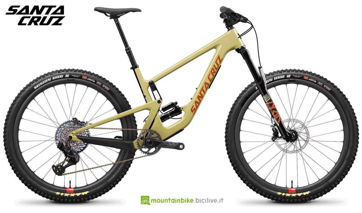 "La nuova mountainbike biammortizzata Santa Cruz Hightower CC XX1 AXS RSV 29"" 2021"