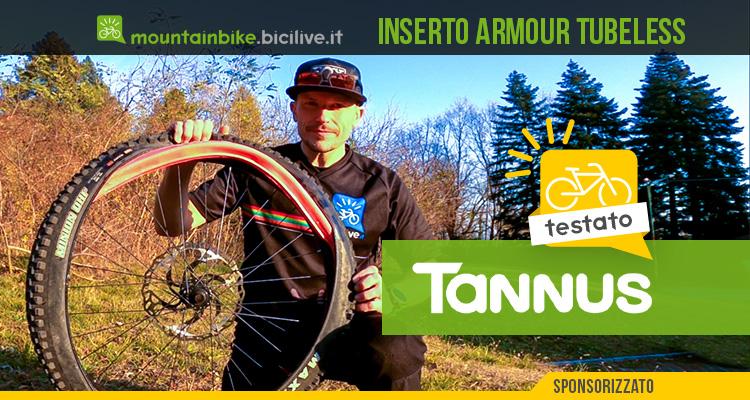 Foto di Claudio Riotti nel test dell'inserto Tannus Armour Tubeless