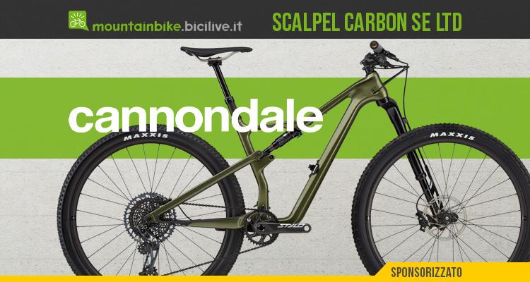 La nuova mountainbike full suspended Cannondale Scalpel Carbon SE LTD Lefty 2021