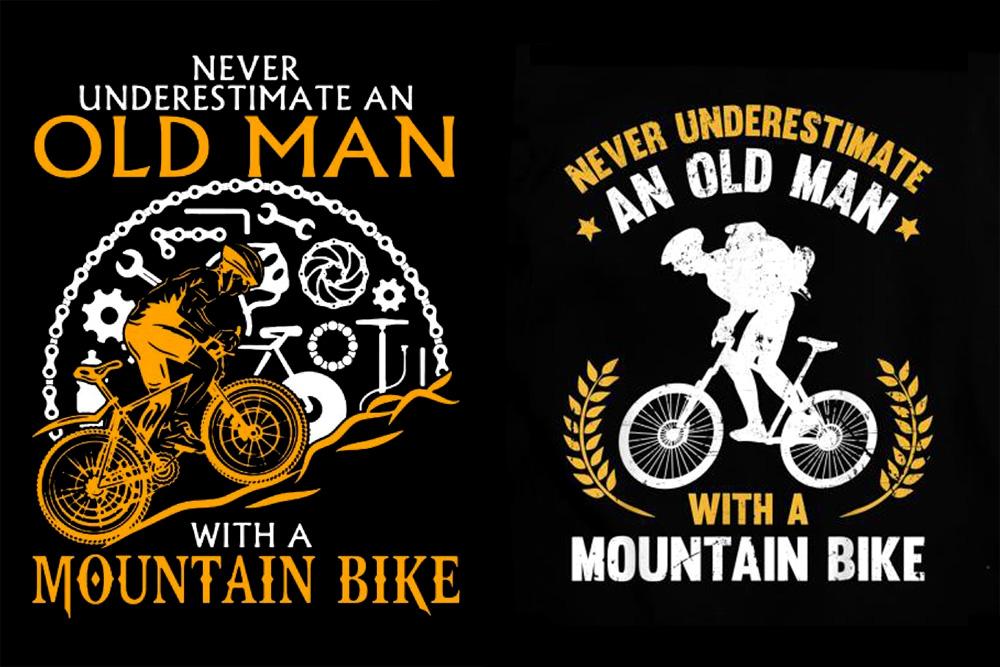 Locandine dedicate ai vecchietti in mountain bike