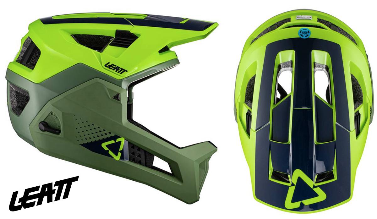 Il nuovo casco per mountainbike Letta 4.0 Enduro 2021 visto lateralmente e dall'alto