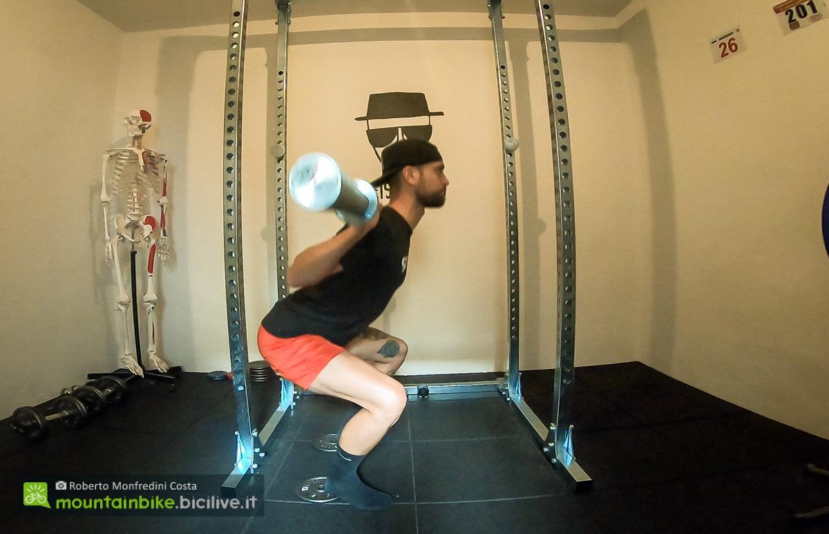 Foto di un esercizio per gambe