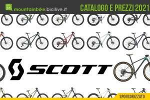 Il catalogo e i prezzi dei nuovi modelli di bici mtb Scott 2021