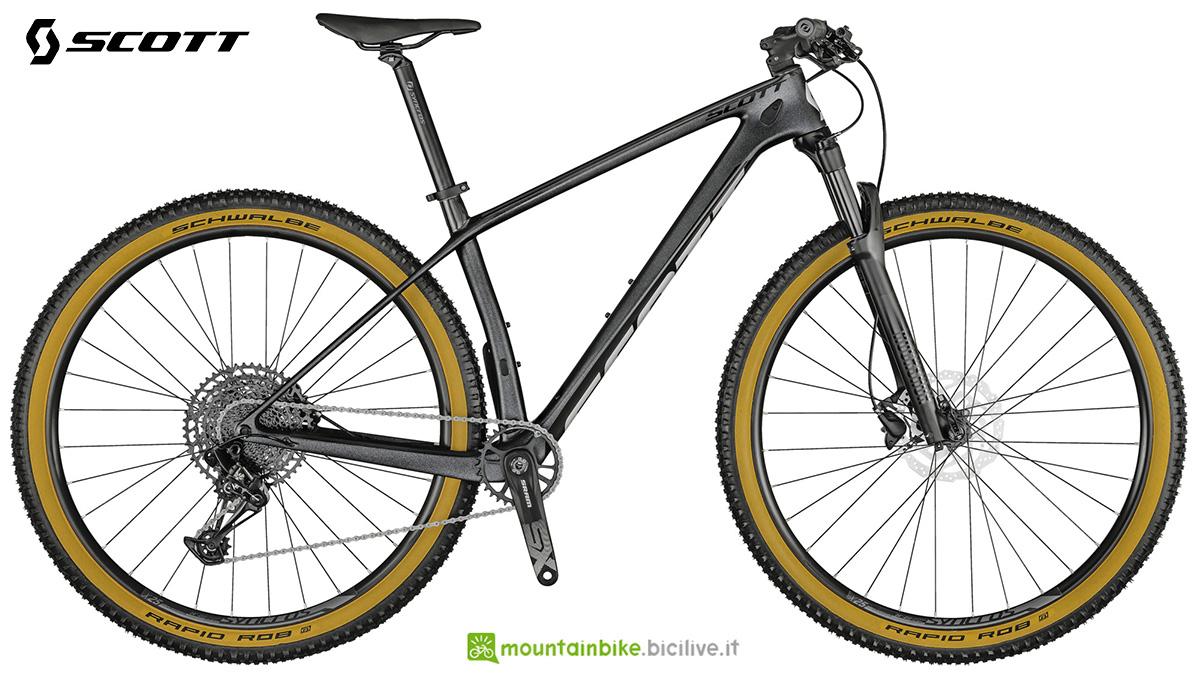 La nuova mtb hardtail Scott Scale 940 Granite Black