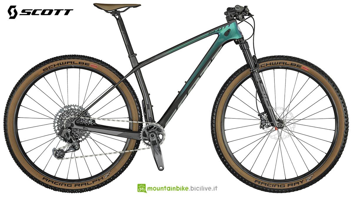 La nuova mountainbike hardtail Scott Scale RC 900 Team Issue AXS 2021