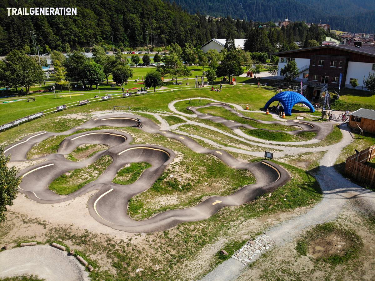 Una pump track creata da Trail Generation