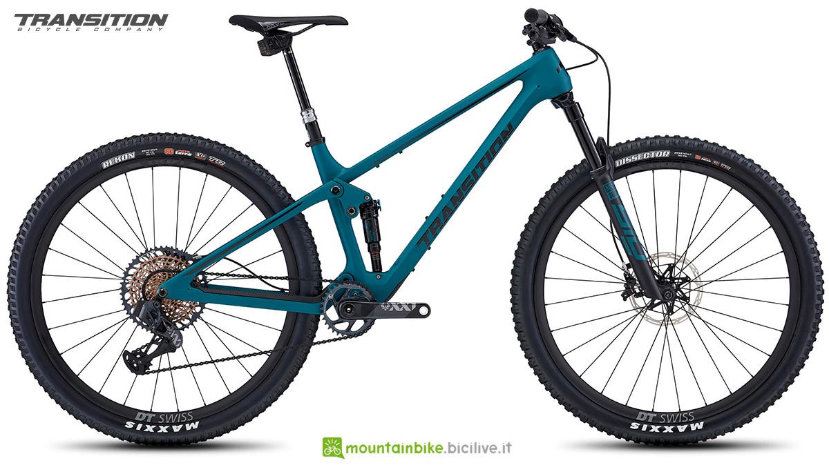 La nuova mountainbike biammortizzata Transition Spur 2021