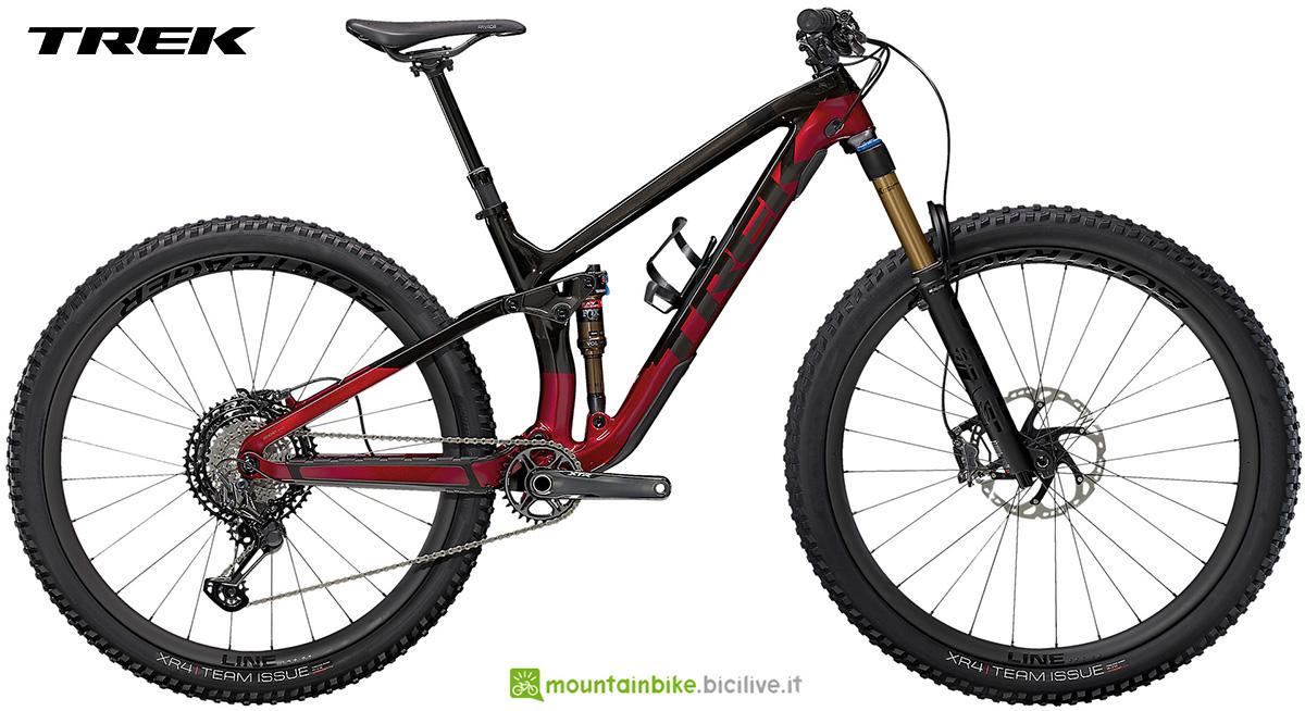 La nuova mountainbike biammortizzata Trek Fuel EX 9.9 XTR 2021