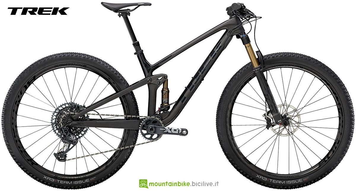 La nuova mountainbike biammortizzata Trek Top Fuel 9.9 X01 2021
