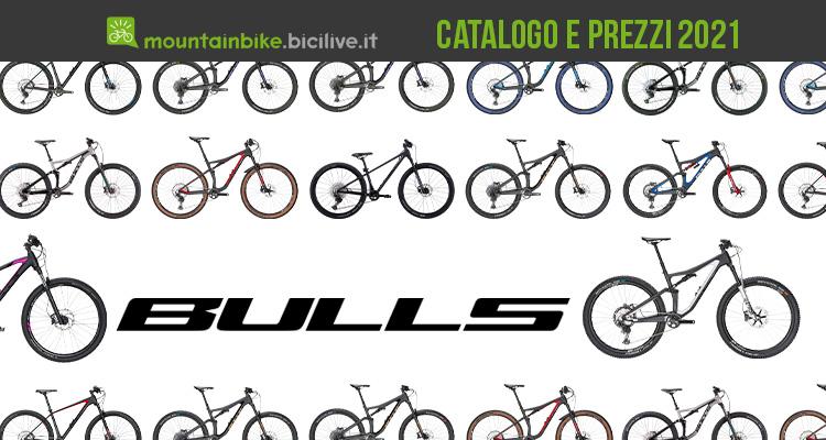 Il catalogo e i prezzi dei nuovi modelli mountainbike 2021 di Bulls