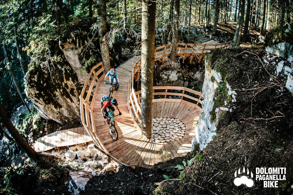 Uno scatto del bike park Dolomiti Paganella Bike