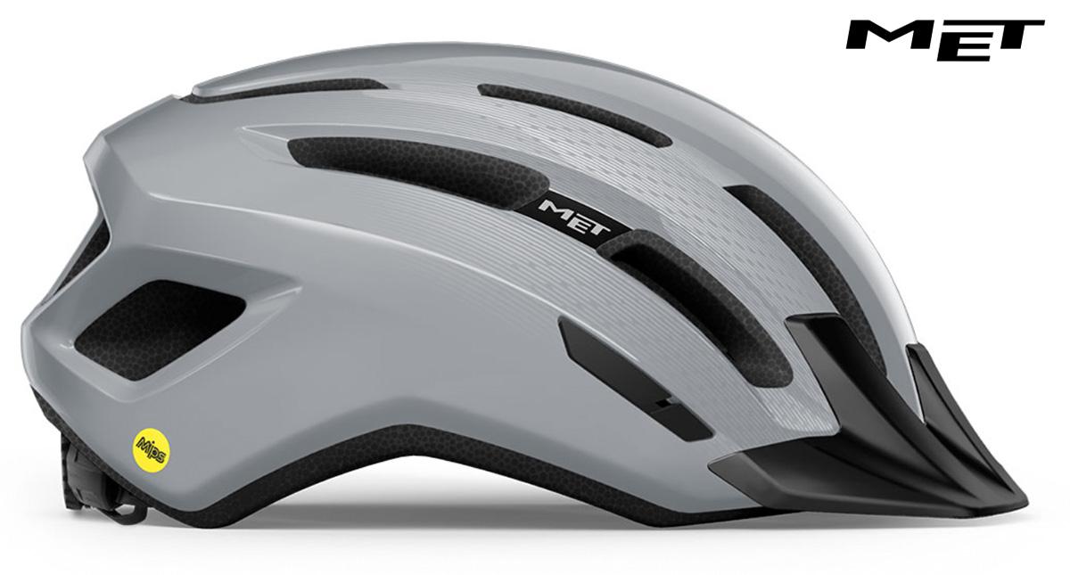 Il nuovo casco per bici Met Downtown Mips 2021 visto lateralmente