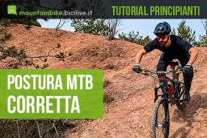 Una guida per principianti illustra la postura corretta per andare in mountainbike
