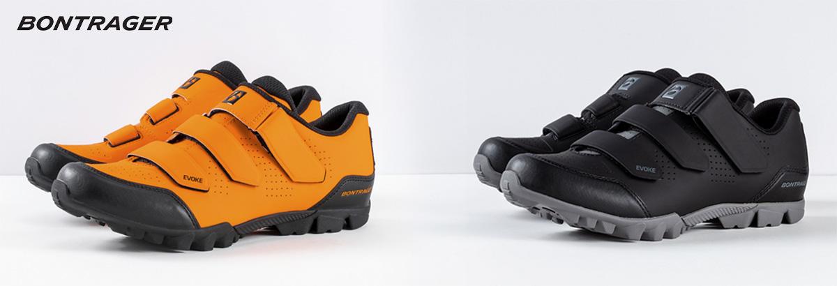 Le due colorazioni delle nuove scarpe per mtb Bontrager Evoke 2021