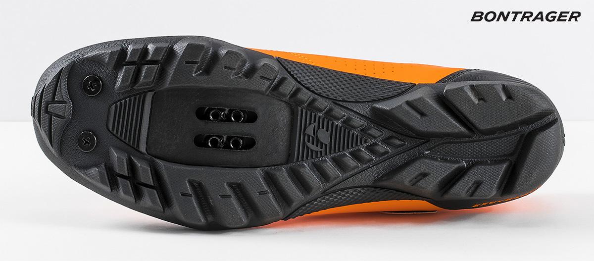 La suola della nuova scarpa per mountainbike Bontrager Evoke 2021