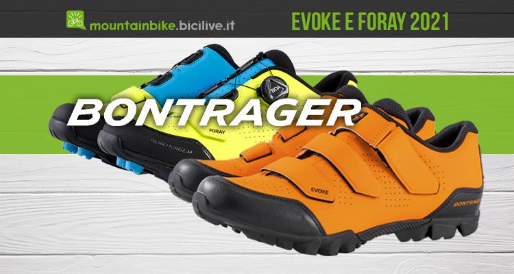 Le nuove scarpe per mtb Bontrager Evoke e Foray 2021