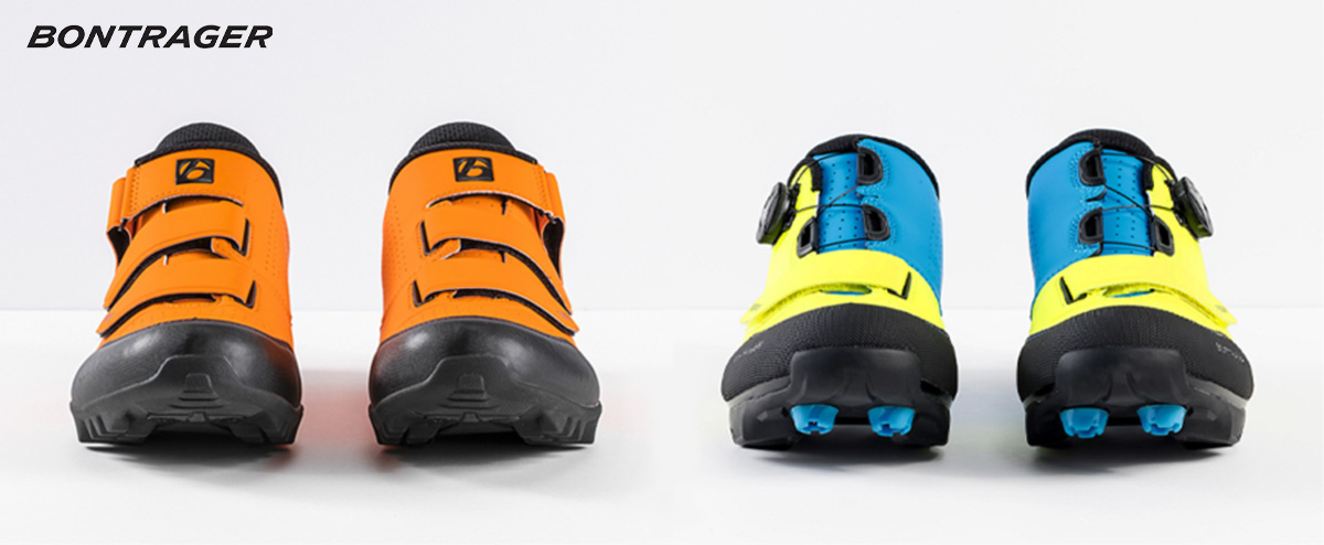 Le nuove scarpe per mtb Bontrager Evoke e Foray 2021 viste frontalmente